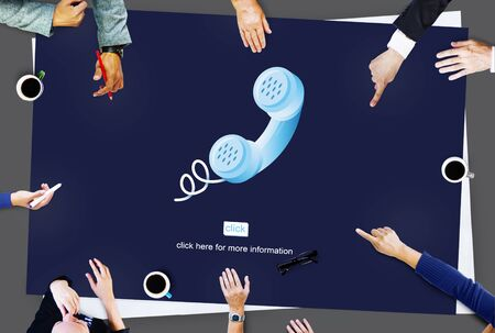 caller: Call Telephone Communication Phone Conversation Concept Stock Photo