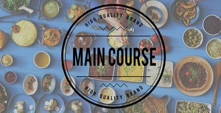 main course: Main Course Cuisine Dinner Gourmet Healthy Concept Stock Photo