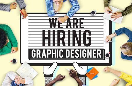 visual: Hiring Graphic Designer Creative Sketch Visual Concept