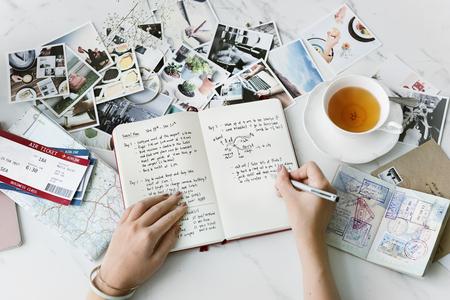 Reisplan Bestemming Reis Reis Ontdek Concept