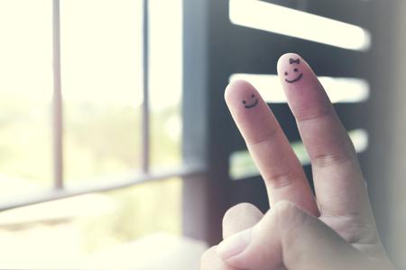 Teken V Hand Taal Symbool Overwinning Vrede Concept