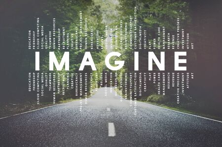 Imagine Imagination Vision Creative Dream Ideas Concept 版權商用圖片
