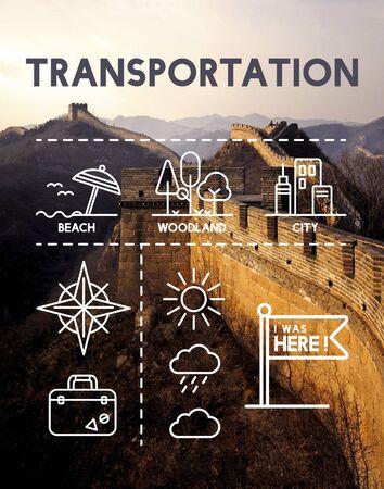 Lieu Mapping Journey Concept Navigation Banque d'images - 60289452