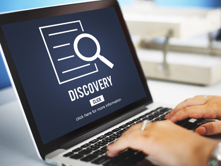 discovery: Discovery Results Analysis Investigation Concept Stock Photo