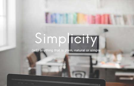 sencillez: La simplicidad minimalista Facilidad concepto de diseño de Simpleness Foto de archivo