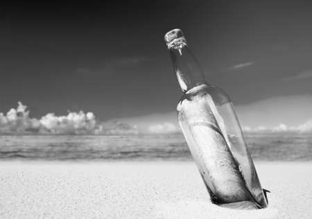 message in bottle: Message Bottle Communication Tranquil Letter Concept