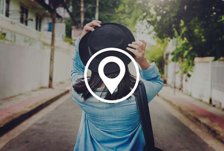 positioning: Location Global Positioning System Navigation Trip Concept