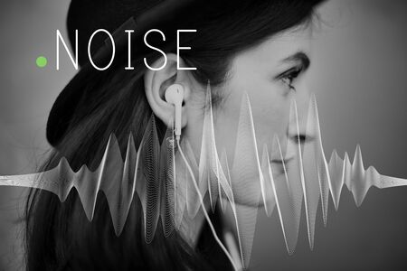 noisy: Noise Hear Loud Noisy Pain Pollution View Stress Concept Stock Photo