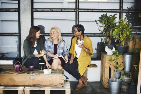 bistro: Bistro Cafe Coffee Drinking Restaurant Socializing Concept Stock Photo