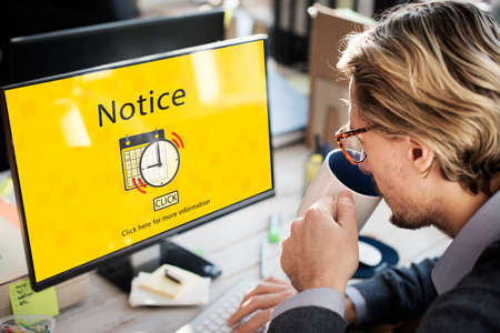 notice: Notice Schedule Notes Imporant Task Concept Stock Photo