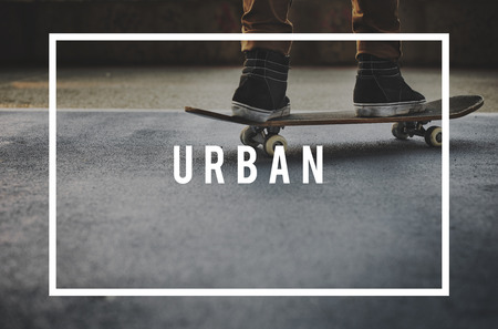 Urban concept with background