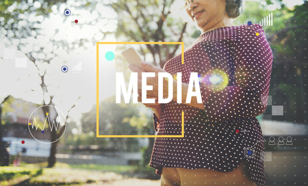 Media concept with background
