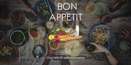 bon: Bon Appetit Delicious Dining Eating Beverage Concept