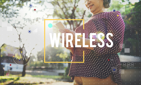 Wireless concept with background