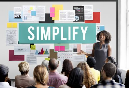 easier: Document Marketing Strategy Business Concept Stock Photo