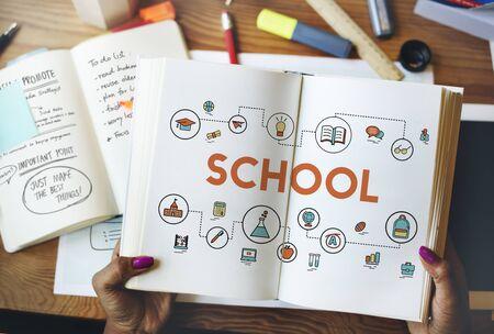 literacy instruction: Training School Development Literacy Wisdom Concept Stock Photo