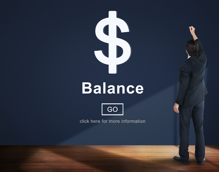 Businessman with financial balance concept
