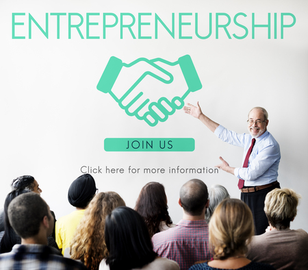 Entrepreneurship Corporate-Unternehmen Händlerkonzept Standard-Bild