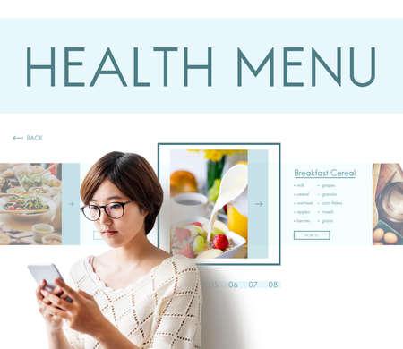 buen vivir: Concepto de nutrici�n sana Alimentos Bienestar Estilo de Vida