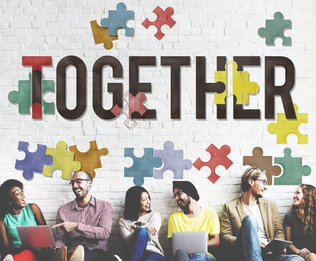 togetherness: Together Togetherness Team Teamwork Connection Concept Stock Photo