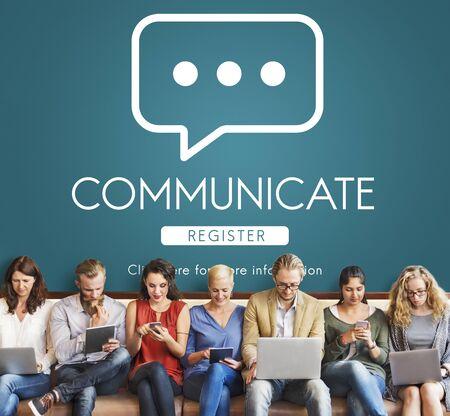communicate: Communicate Online Conversation Message Concept