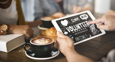 give charity: Volunteer Donate Give Charity Concept Stock Photo
