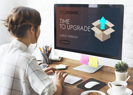 Upgrade Update New Version Better Graphics Concept Stock Photo