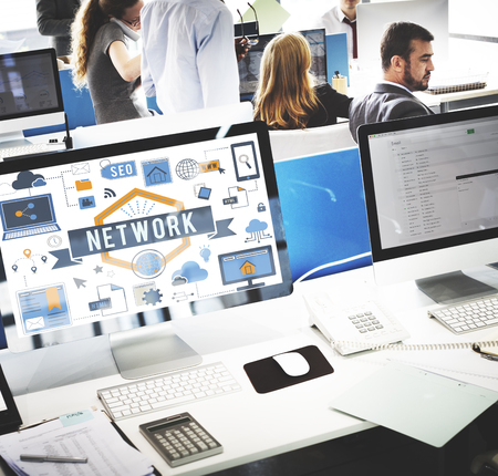 Office network concept Stock Photo