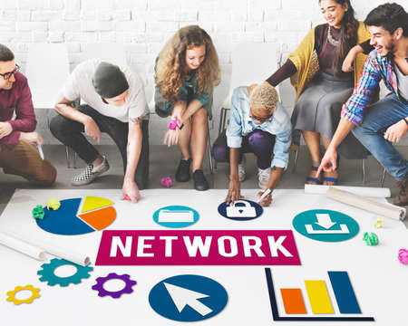 diversity domain: Network Networking Internet Connection Concept Stock Photo