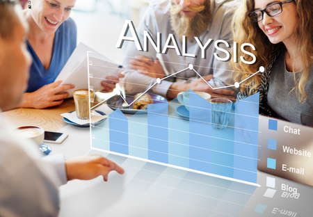 Analysis Analytics Business Statistics Concept Stock Photo