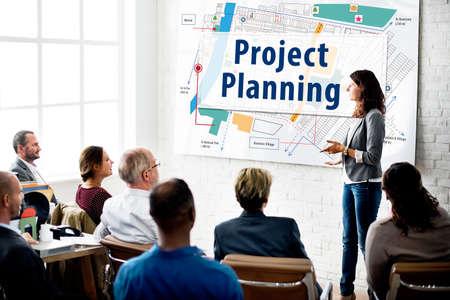 Projektplanung Strategie Vision Taktik Design Plan-Konzept Standard-Bild