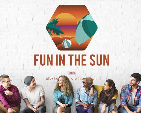 Fun in the sun concept