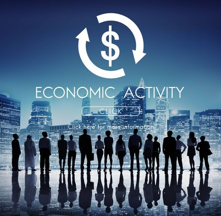 urban decline: Financial Trade Economics Financial Graphic Concept Stock Photo