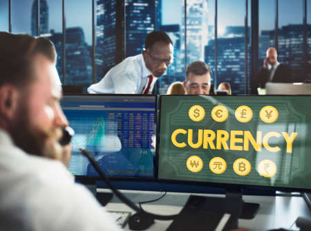 stockmarket: Currency Accounting Economy Icon Banking Concept