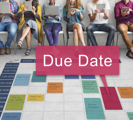 due date: Due Date Deadline Appointment Event Concept