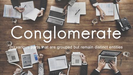 conglomerate: Conglomerate Alliance Business Collaborate Team Concept