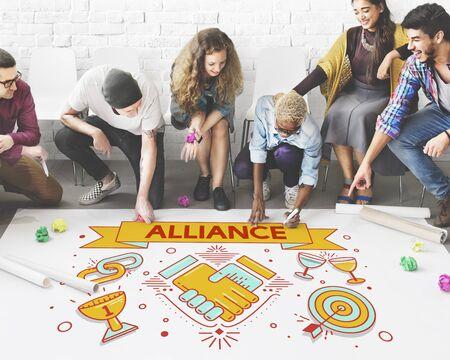 Alliance équipe Ensemble Collaboration Partenariat Concept