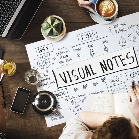 Sketching Visual Notes Design Handwriting Ideas Concept