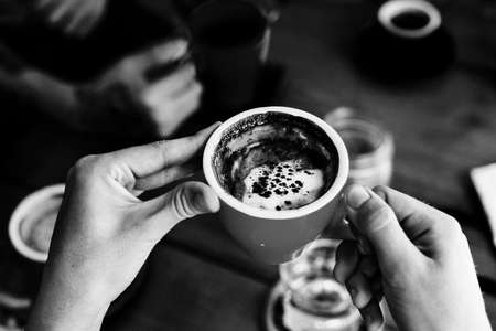 Cafe Coffee Beverage Break Happiness Relaxation Concept