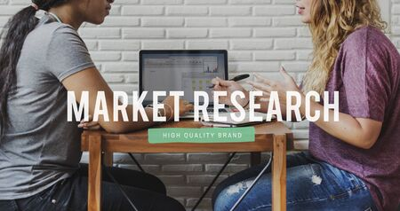 Proyecto de Investigación de Mercado Foto de archivo