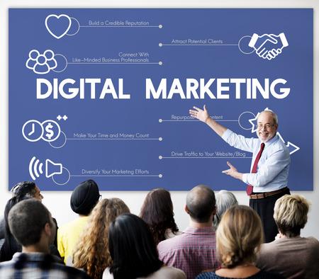 Man presenting about digital marketing