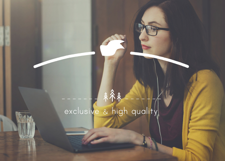 copy space: Exclusive and High Quality Brand Markeing Copy Space Concept Stock Photo