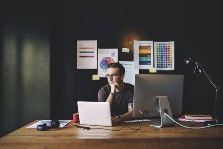 Graphics Designer Editor Workplace Concept Stock Photo