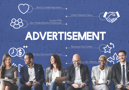 People with advertising concept