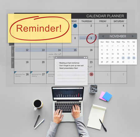 Reminder Important Memo Memory Notice Text Concept Stock Photo