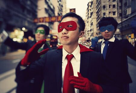 chinese businessman: Chinese Businessman Superhero Costume Concept