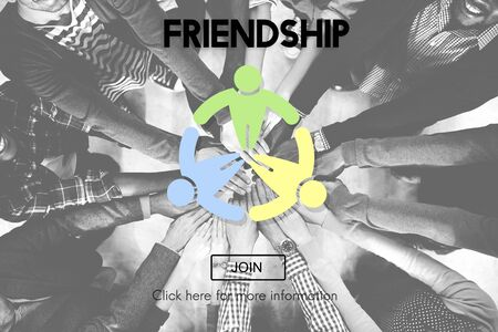friendliness: Friendship Connection Together Unity Community Concept