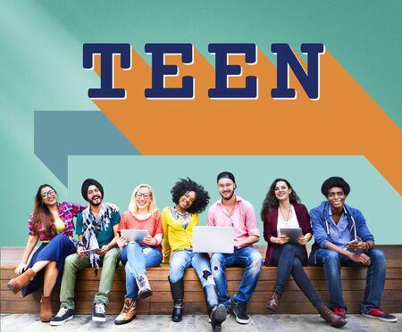adolescencia: Teen Adolescence Lifestyle Young Youth Culture Concept