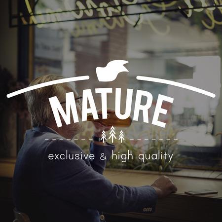maturity: Mature Pension Retirement Senior Adult Maturity Concept