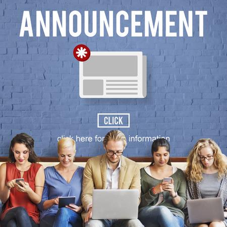 hot news: Announcement Hot News Newsletter Daily Concept